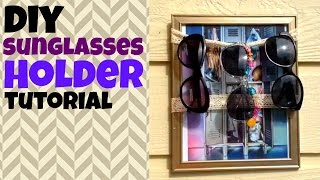 Dollar Store Crafts: Sunglasses Holder Tutorial