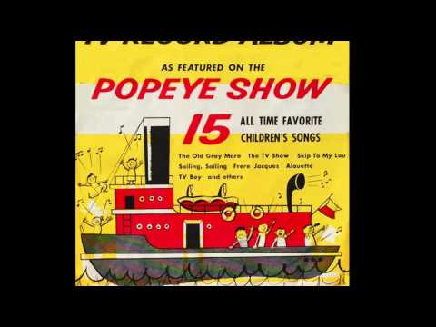 Allen Swift TV RECORD ALBUM as Featured on the POPEYE  1956