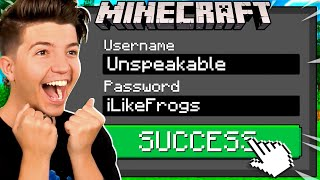 So I Hacked Unspeakable's Minecraft Account...