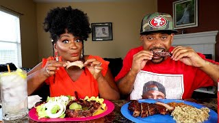 TENDER BBQ RIBS MUKBANG! OVER 300,000 PEOPLE TO BE EVICTED?!