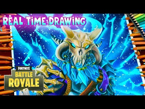 How To Draw Ragnarok Skin Fortnite Battle Royale - Step By Step Tutorial - Cómo Dibujar a Ragnarok