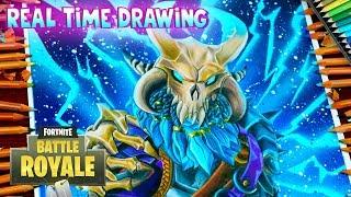 How To Draw Ragnarok Skin Fortnite Battle Royale - Step By Step Tutorial - How to Draw Ragnarok