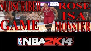 #NBA2K14 | #XBOXONE | SUBSCRIBER GAME | D.ROSE IS A MONSTER | ONLINE RANKED MATCH