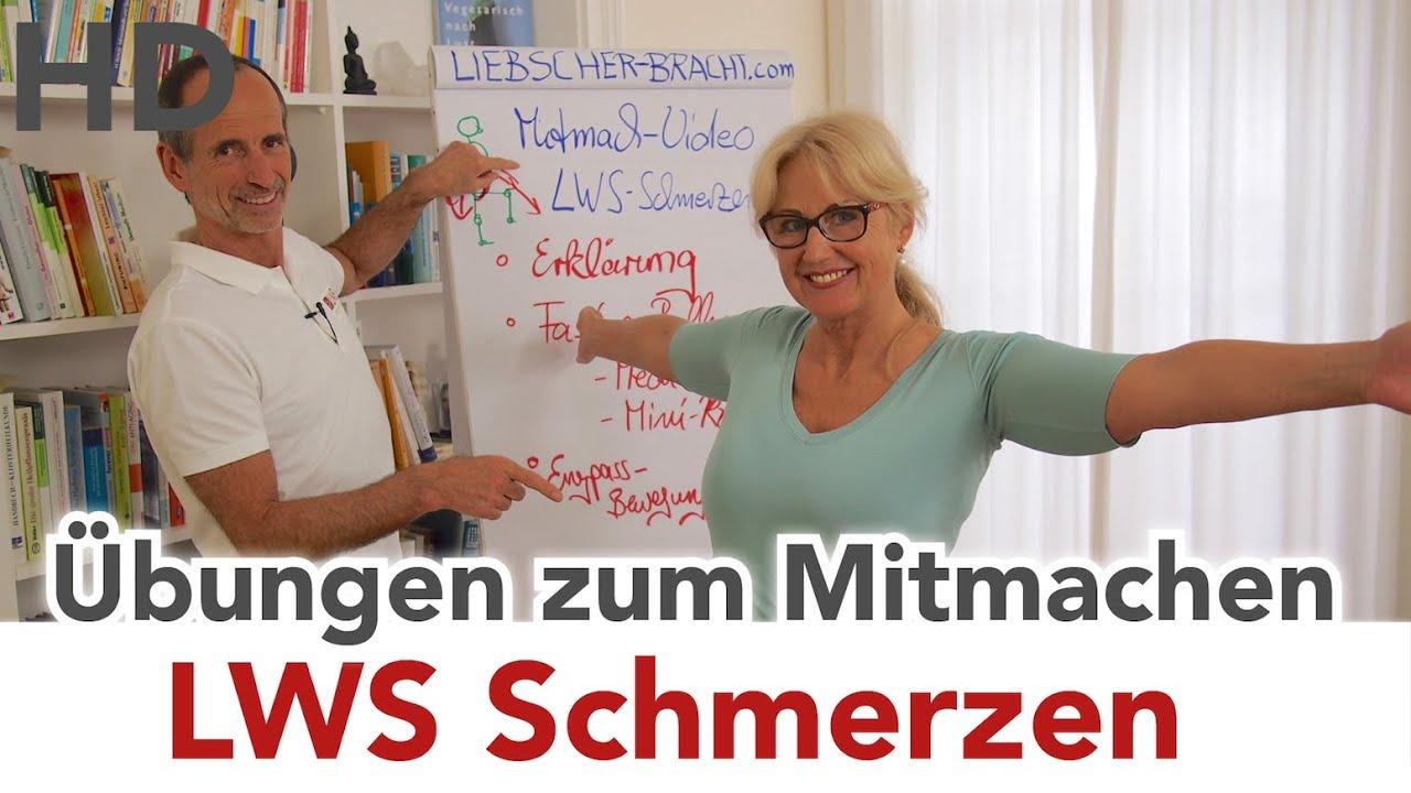 LWS Schmerzen // Übungen zum Mitmachen // Lendenwirbelsäule ...
