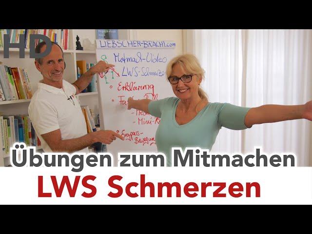 LWS Schmerzen // Übungen zum Mitmachen // Lendenwirbelsäule Schmerzen