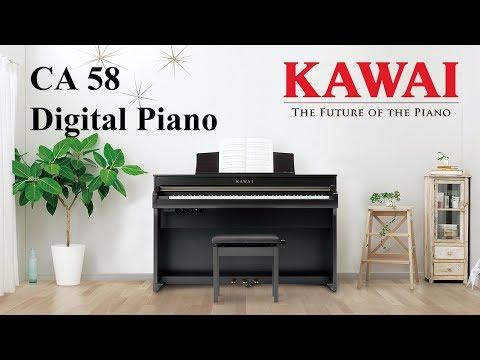 KAWAI CA58 Digital Piano DEMO - ENGLISH