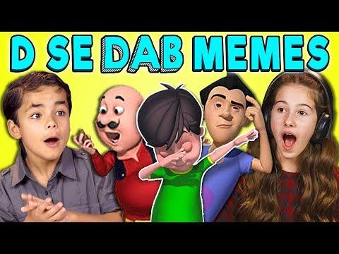 KIDS REACT TO DABBING MEMES (D SE DAB MEMES)