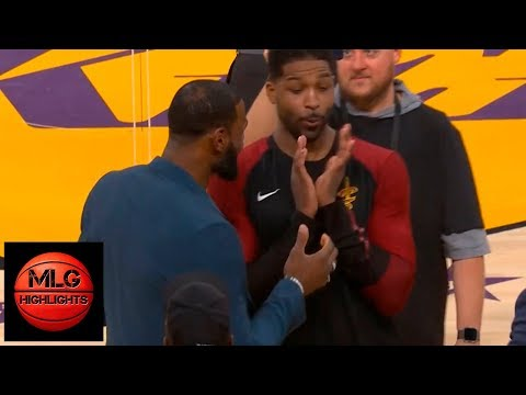 LeBron James & Tristan Thompson Have Fun During the Break | Lakers vs Cavaliers Mp3