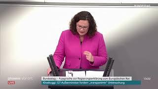 1. Teil der Aussprache zur Regierungserklärung von Bundeskanzlerin Angela Merkel am 17.10.18