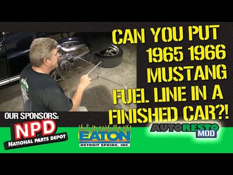 1966 mustang fuel filter how to 1965 1966 mustang fuel line install on finished car episode  1965 1966 mustang fuel line install