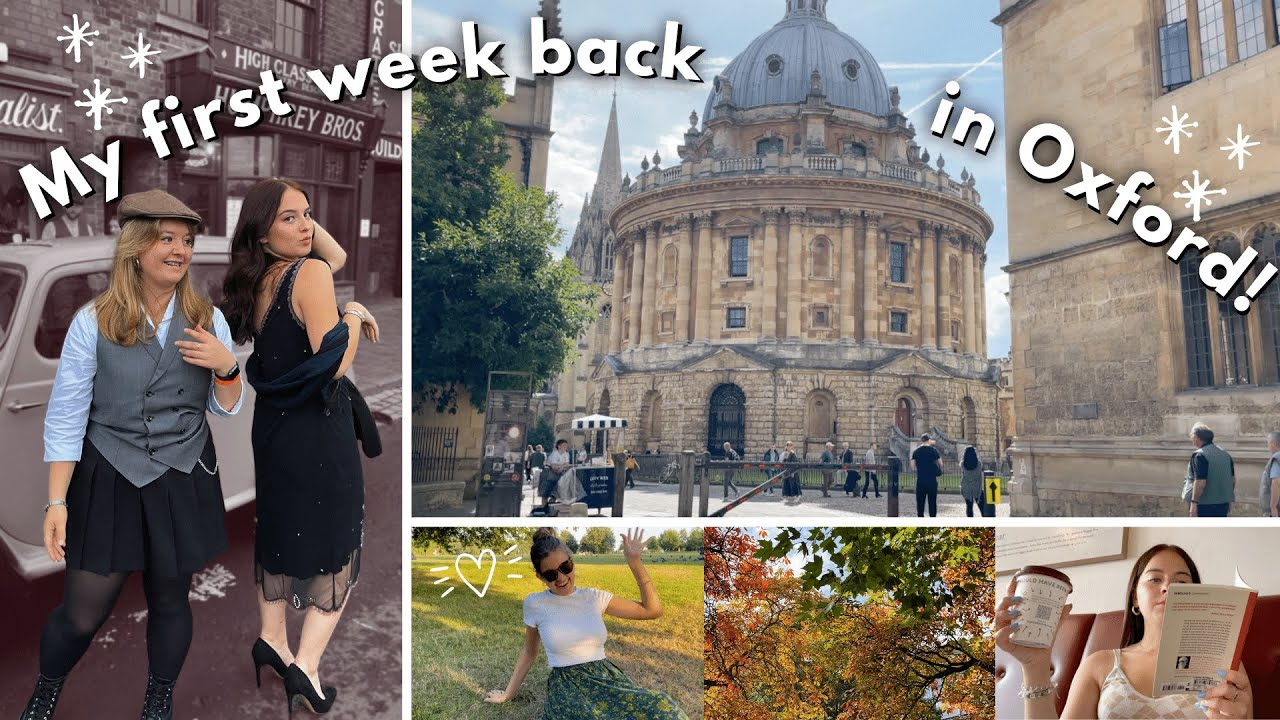 my first week back at oxford university! settling in, reunited with friends and starting work ❤️