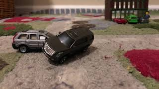 Stop motion car crash