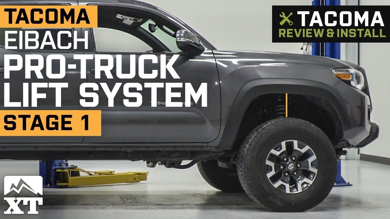 Tacoma Eibach Pro Truck Lift System - Stage 1 (2016-2019) Review & Install