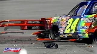 Hard crash for Scott Lagasse at the 1995 NASCAR SuperTruck