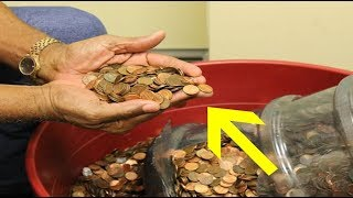 Man Cashing In Pennies He Collected For 45 Years Is Speechless At What The Bank Says thumbnail