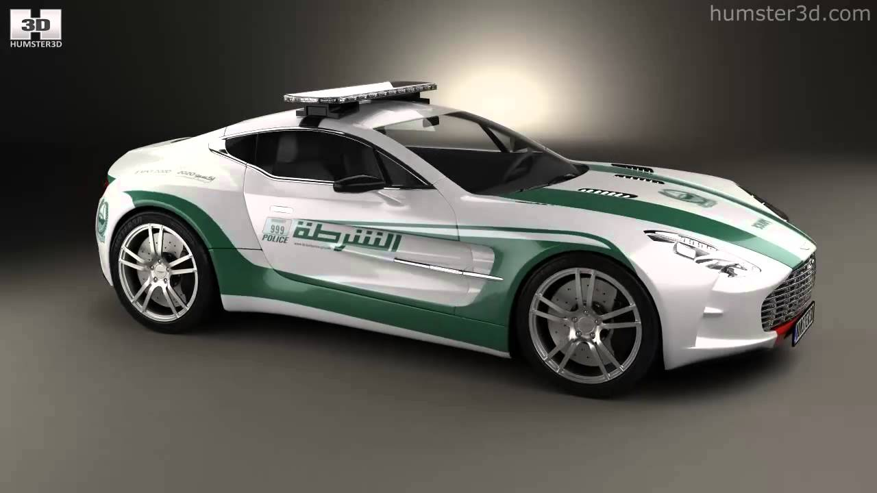 Aston Martin One 77 Police Dubai 2013 By 3d Model Store Humster3d Com Youtube