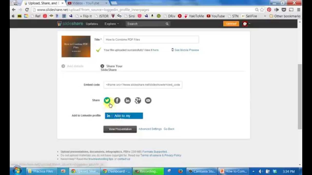 How to Upload YouTube Video to SlideShare for Free