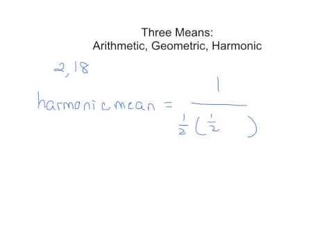 Geometry:  Arithmetic, Geometric, Harmonic Means