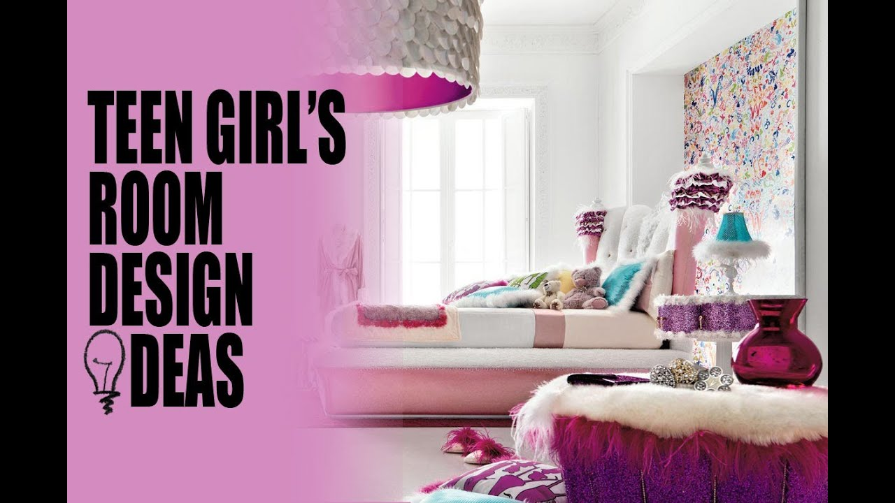 Teen girl 39 s room design ideas youtube for A girl room decoration