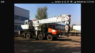 автомобильный кран сокол [ truck crane, Falcon ] photo-collage