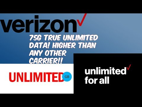 Verizon New Unlimited Huge Data Plan (Above Unlimited) 75GB