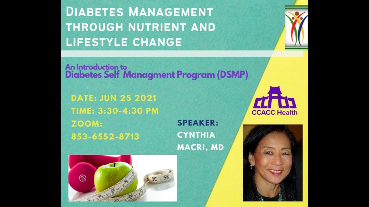 Diabetes Self Management Program (DSMP) Virtual Workgroup Starting 7.15.2021