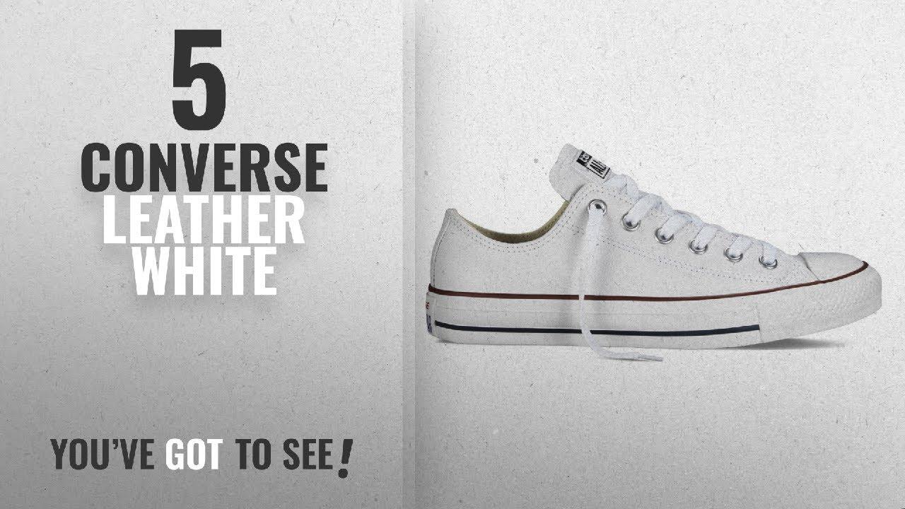 c783b5eb23fe Top 5 Converse Leather White [2018]: Converse Unisex Chuck Taylor Leather  White Sneaker - 6 Men - 8