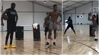 Draymond Green working out with new teammate D'Angelo Russell