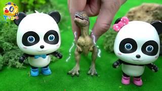 奇奇妙妙孵出了小霸王龍,快幫小霸王龍找媽媽| 寶寶玩具 | 兒童玩具 | 玩具巴士