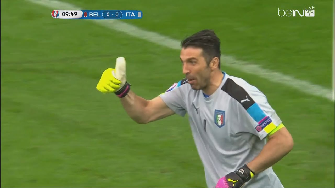 9ae91c3635f Gianluigi Buffon vs Belgium - Euro 2016 (13.06.2016) HD 720p - YouTube
