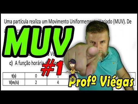 MUV #1 - Movimento Uniformemente Variado - Tabela V X T - Professor Viégas