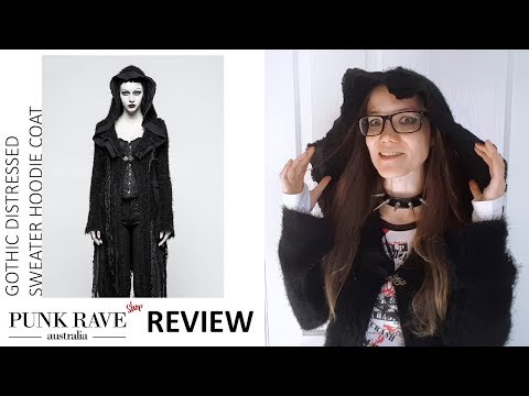 Distressed Gothic Hooded Coat, Post-Apocalyptic Style! - Punk Rave Australia Video Review