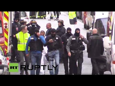 ПРЯМАЯ ТРАНСЛЯЦИЯ. Полицейская спецоперация в пригороде Парижа
