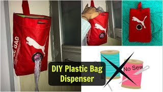 DIY Plastic Bags Dispenser from Old Shoe Bag   No Sew Polybag Organizer   Organizopedia
