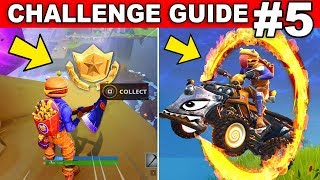 Fortnite WEEK 5 CHALLENGES GUIDE! - RADAR SIGNS Locations, Secret Star, Flaming Hoops (Season 6)