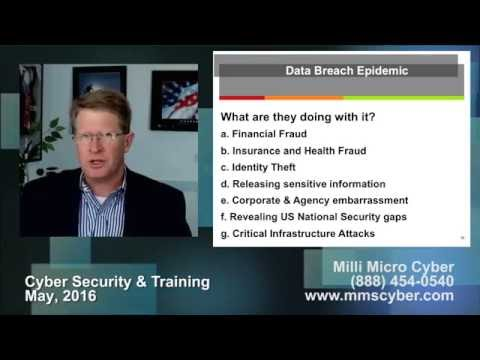 MilliMicro Procurement Briefing - Cyber Security & Training - 24 MAY 2016