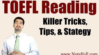 new killer toefl reading tricks tips strategy from notefull