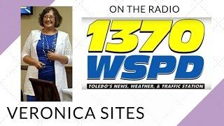 Live on the Radio in Toledo | Veronica Sites