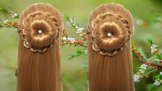 Simple Hairstyle for Girls 2018 ★ Beautiful Hairstyle for Party/Wedding/Function ★ Hair style Girl