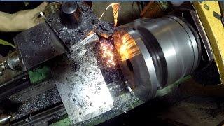 Токарь 8 уровня - Работа с огоньком (жидкая стружка)