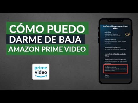 Cómo Darse de baja de Amazon Prime Vídeo