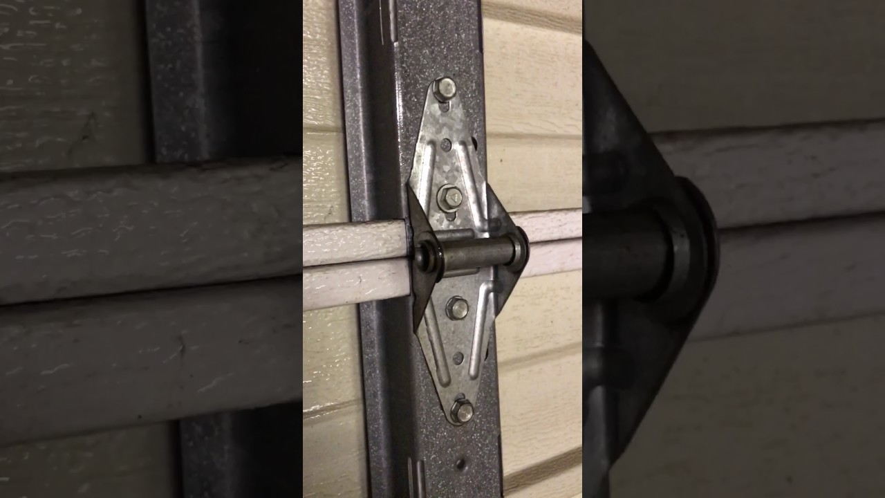Replacing Garage Door Hinges Youtube