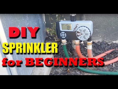 DIY Garden Hose Sprinkler system