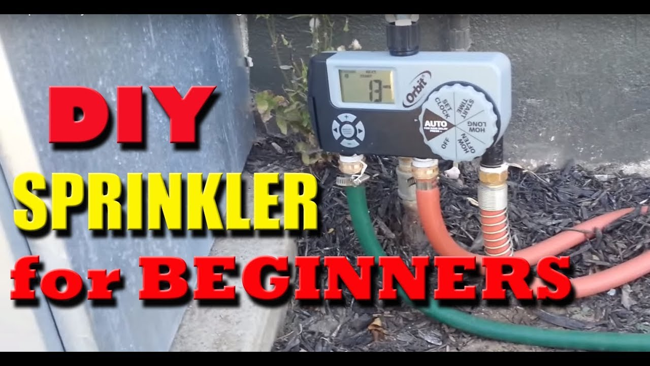 Diy Garden Hose Sprinkler System Youtube