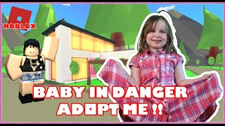 Crying baby runs into danger! in Adopt Me Roblox