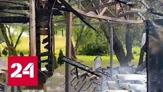 В Петербурге гости кафе сожгли заведение из-за ссоры с официантом - Россия 24