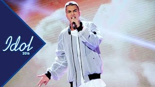 Liam Cacatian Thomassen sjunger I'll be missing you i Idol 2016 - Idol Sverige (TV4)