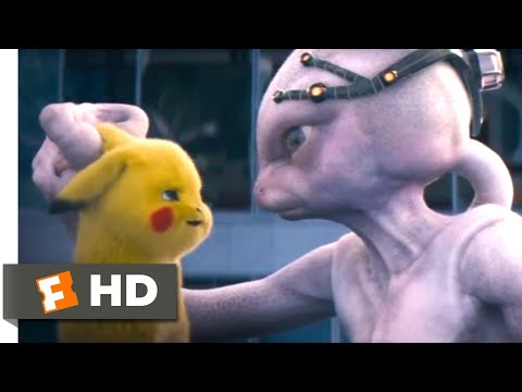 Pokémon Detective Pikachu (2019) - Defeating Mewtwo Scene (9/10) | Movieclips