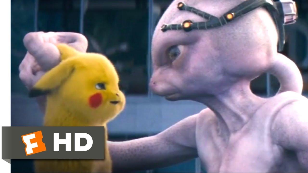Pokemon Detective Pikachu 2019 Defeating Mewtwo Scene 9 10 Movieclips Youtube