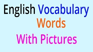 English Vocabulary Words - Learn English Vocabulary With Pictures